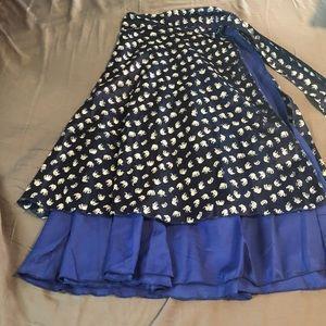 Dresses & Skirts - Reversible Wrap Skirt - Navy / Royal Blue